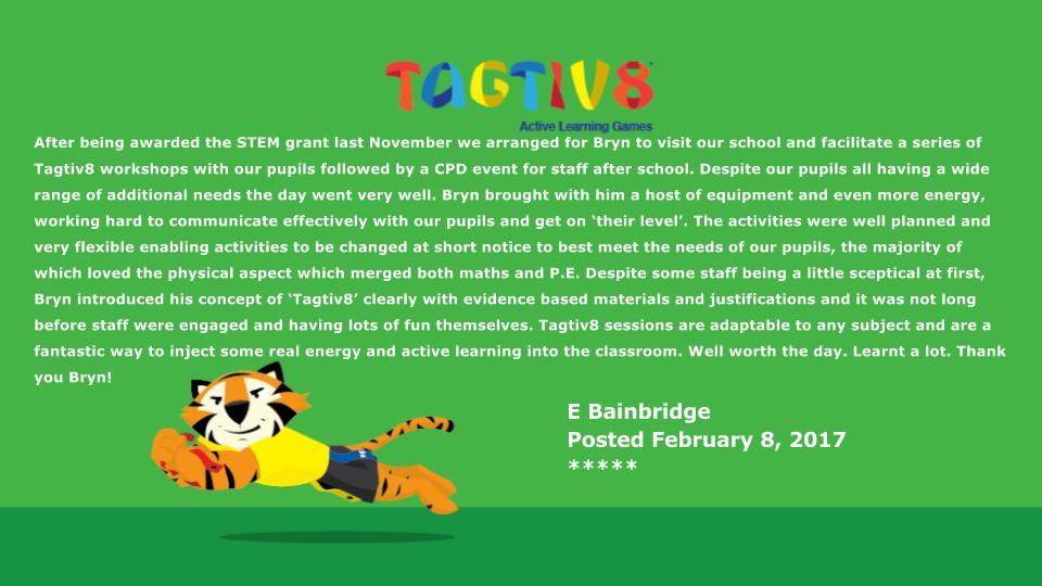 Tagtiv8 Feedback - STEM 1