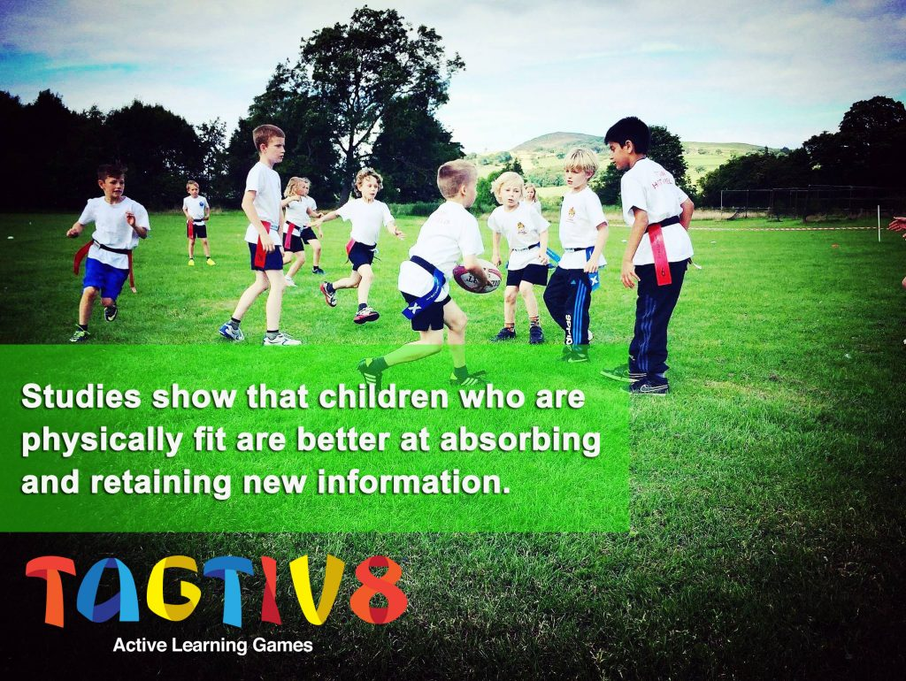 studies show that children who are physically fit are better at absorbing and retaining new information